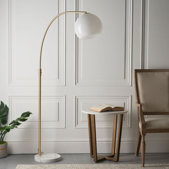 edit gramercy gold and white floor lamp