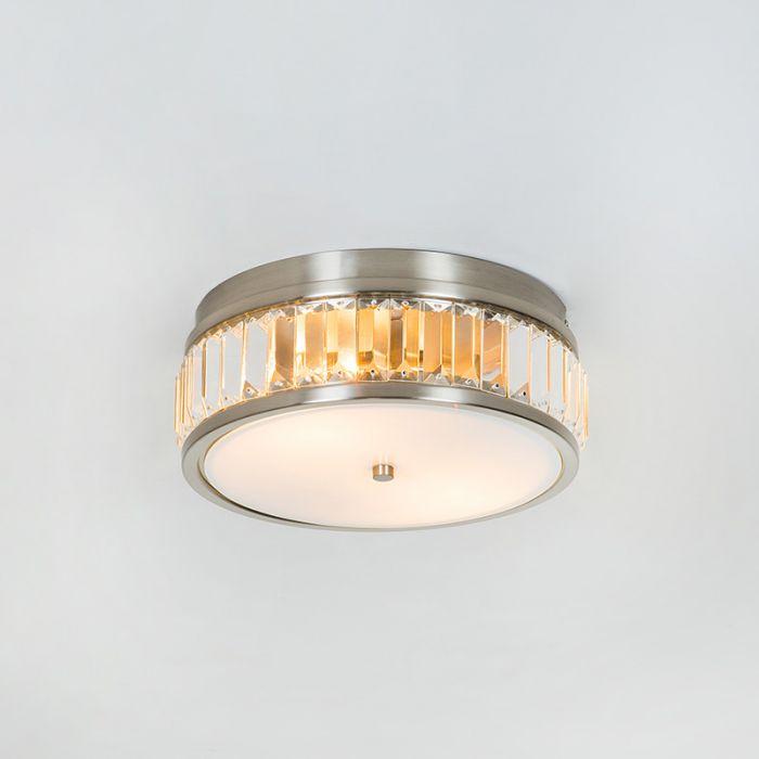 edit crystal flush ceiling light