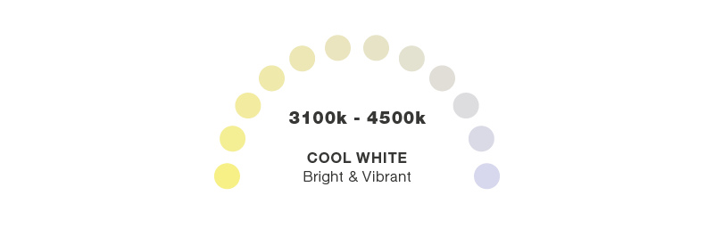 Cool white colour temperature scale - Online Lighting