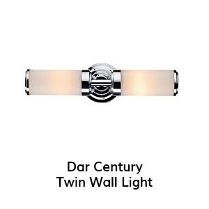 Dar Century Twin Wall Light