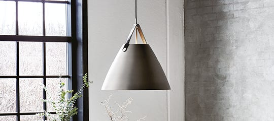 Pendant Lights - Brushed Steel - Zinc