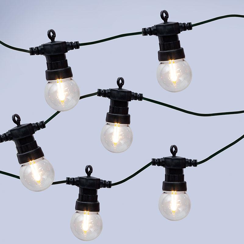 Home & Garden Easyfit 12V Garden Lights - Golf Ball LED Festoon Lights - 10 Lights