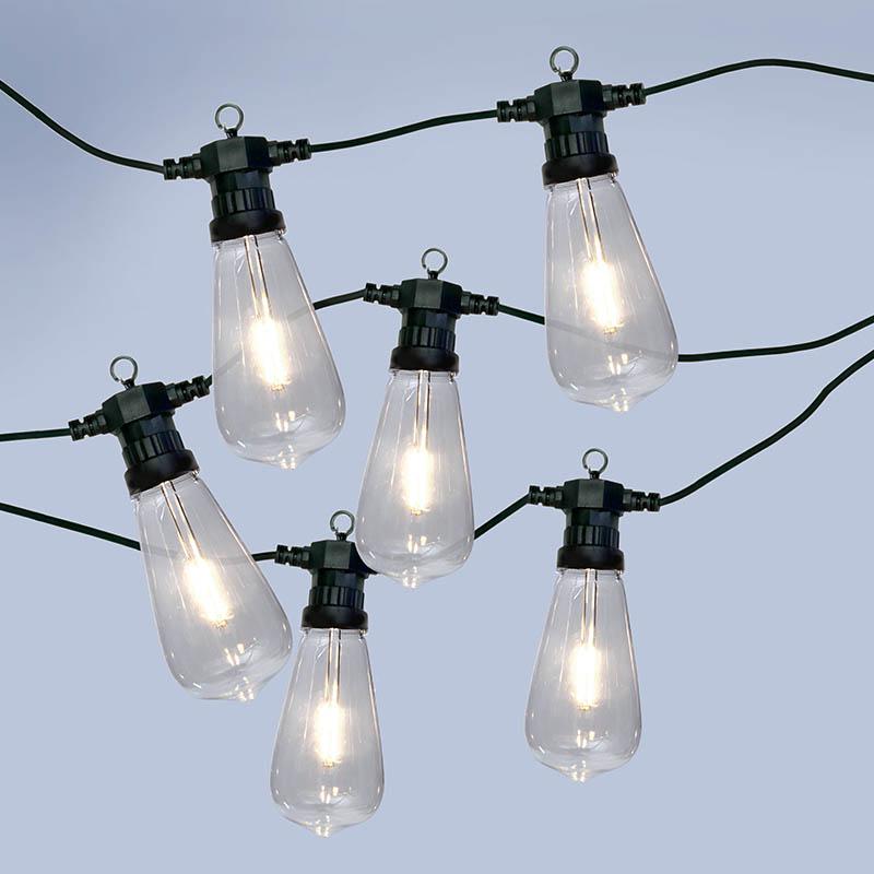 Home & Garden Easyfit 12V Garden Lights - Squirrel Cage LED Festoon Lights - 10 Lights