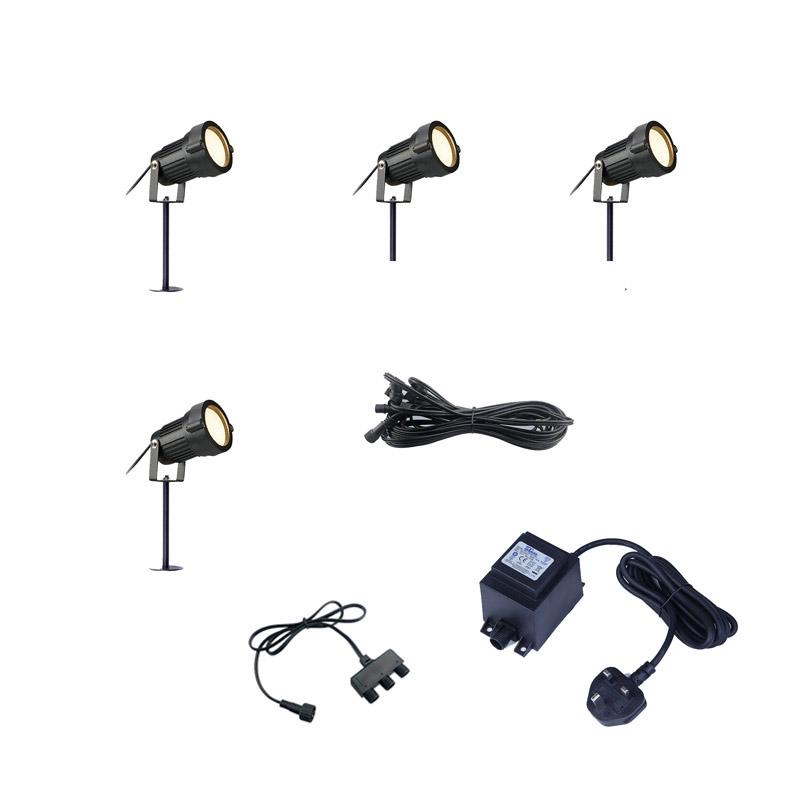 Home & Garden EasyFit 12V Garden Light Bloom LED Spotlight Kit - 8 Lights