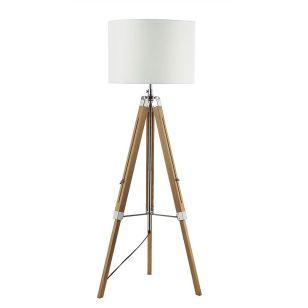 Dar Easel Tripod Brown Floor Lamp - Base Only