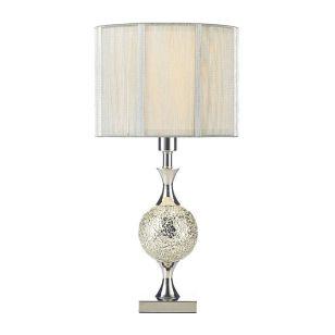 Dar Elsa Table Lamp - Silver