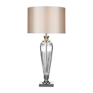 Dar Hinton Crystal Table Lamp - Polished Chrome