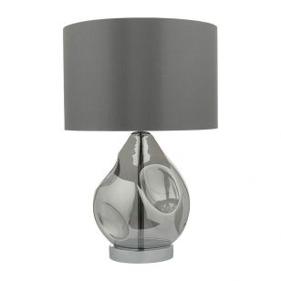 Dar Quinn Glass Table Lamp - Glass