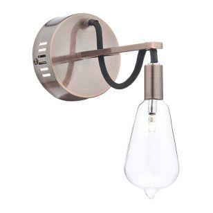 Dar Scroll Wall Light - Copper