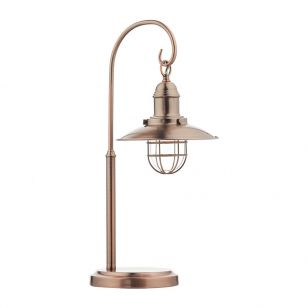 Dar Terrace Glass Table Lamp - Copper
