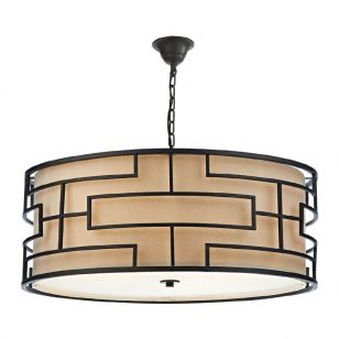 Dar Tumola Ceiling Pendant Light - Bronze