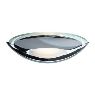 Dar Via Glass Wall Light - Polished Chrome