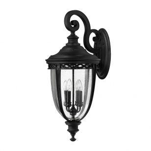 Feiss English Bridle Grande Outdoor Lantern Wall Light - Black