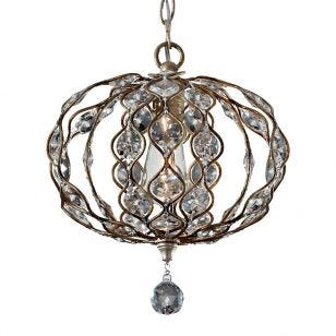 Feiss Leila Chandelier - Burnished Silver