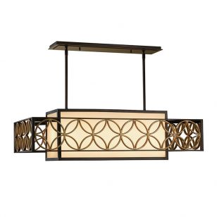 Feiss Remy Bar Ceiling Pendant Light - Bronze