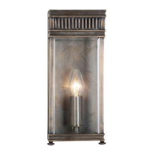 Elstead Holborn Half Lantern Outdoor Wall Light - Dark Bronze