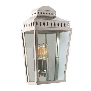 Elstead Mansion House Half Lantern Outdoor Wall Light - Polished Nickel