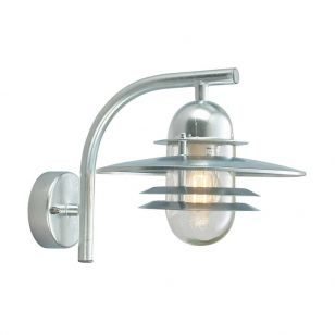Norlys Oslo Outdoor Wall Light - Galvanised Steel