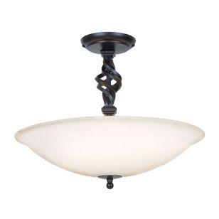 Elstead Pembroke Semi-Flush Ceiling Light - Black