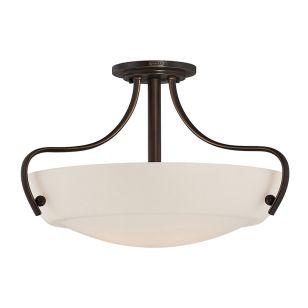 Quoizel Chantilly Semi-Flush Ceiling Light - Palladian Bronze