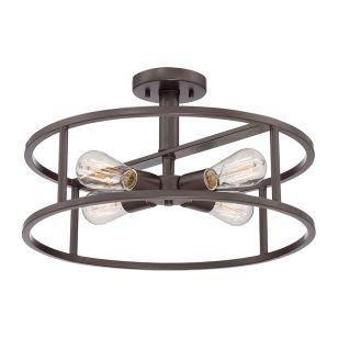 Quoizel New Harbor 4 Light Semi-Flush Ceiling Pendant - Bronze