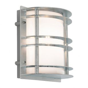 Norlys Stockholm Outdoor Flush Wall Light - Galvanised Steel