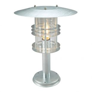 Norlys Stockholm Grande Pedestal Light - Galvanised Steel