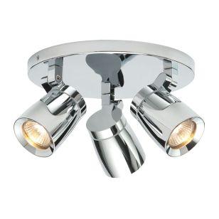 Saxby Knight 3 Light Spotlight Plate - Chrome