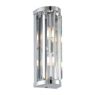 Saxby Crystal Up & Down Wall Light - Chrome
