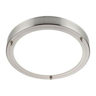 Saxby Portico LED Flush Light - Satin Nickel