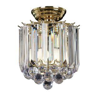 Endon Fargo 2 Light Chandelier - Brass