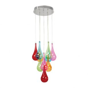 Endon Niro 10 Light Cluster Ceiling Pendant - Multi Coloured