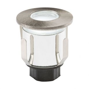 Knightsbridge LED Ground Light - Brushed Chrome
