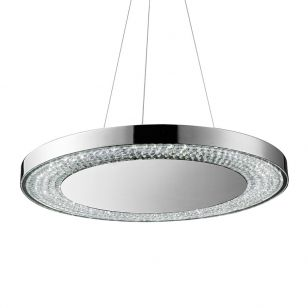 Searchlight Halo LED Ceiling Pendant Light - Chrome