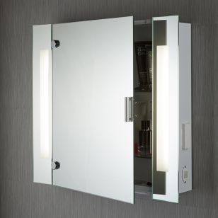Searchlight LED Illuminated Bathroom Mirror Cabinet
