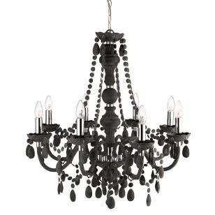 Searchlight Marie Therese 8 Light Chandelier - Frosted Grey