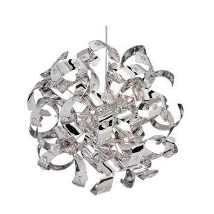 Searchlight Curls Ceiling Pendant Light - Chrome