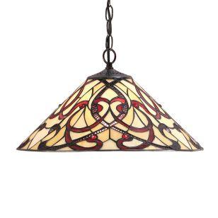 Interiors 1900 Ruban Tiffany Style Medium Ceiling Pendant Light