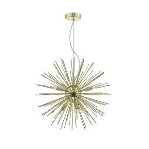 Dar Sagan 6 Arm Ceiling Pendant Light - Gold