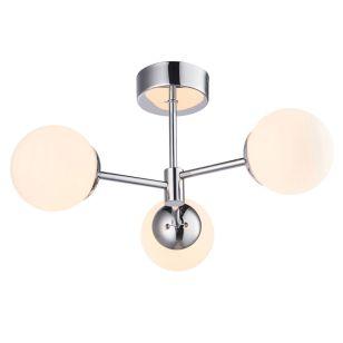 Edit Vetro 3 Arm LED Semi-Flush Ceiling Light - Chrome
