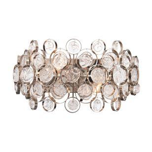 Edit Marella Flush Glass Wall Light - Nickel