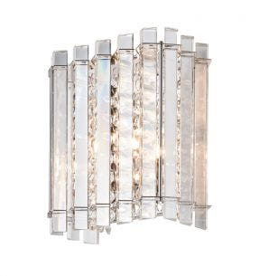 Edit Celeste Crystal Flush Wall Light - Chrome