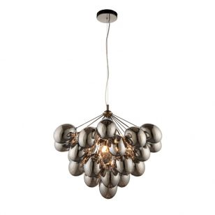 Edit Infinity 6 Light Glass Chandelier - Smoked