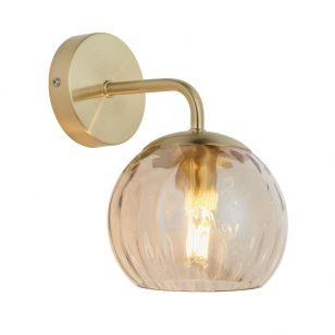 Endon Dimple Glass Wall Light - Champagne