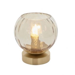 Endon Dimple Glass Table Lamp - Champagne