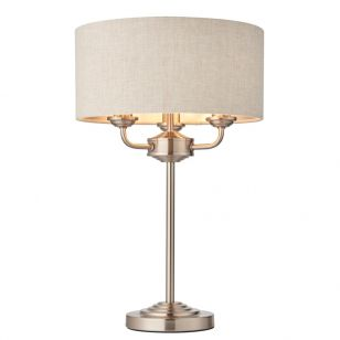 Endon Highclere 3 Light Table Lamp - Natural