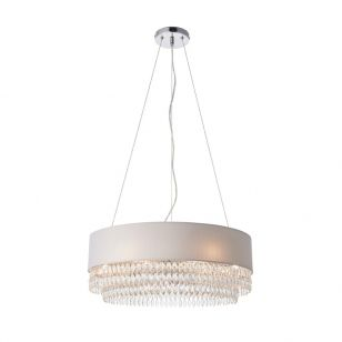 Endon Malmsbury Ceiling Pendant Light - Silver