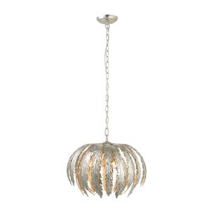 Endon Delphine Ceiling Pendant Light - Silver