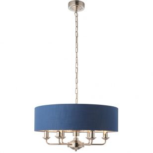 Endon Highclere 6 Light Ceiling Pendant Light - Blue