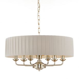 Endon Highclere 6 Light Ceiling Pendant Light - White
